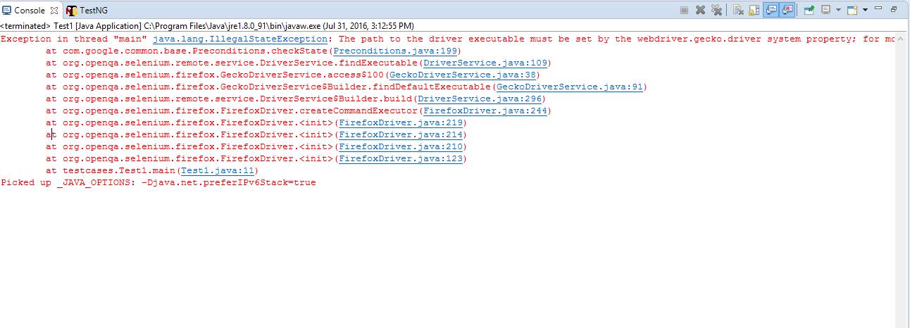 Gecko Driver-Start Firefox in Selenium using geckodriver using